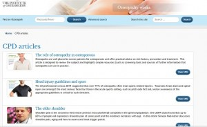 CPD website page